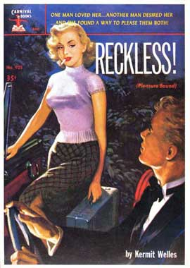Reckless! - 11 x 17 Retro Book Cover Poster