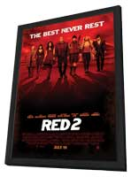 RED 2 - 11 x 17 Movie Poster - Style A - in Deluxe Wood Frame