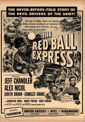 Red Ball Express - 27 x 40 Movie Poster - Style B