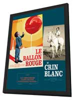 The Red Balloon - 11 x 17 Movie Poster - French Style A - in Deluxe Wood Frame