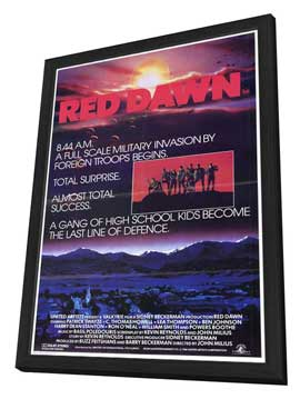 Red Dawn - 27 x 40 Movie Poster - Style B - in Deluxe Wood Frame