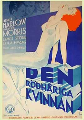 Red-Headed Woman - 11 x 17 Movie Poster - Swedish Style A