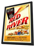 Red River - 11 x 17 Movie Poster - Style A - in Deluxe Wood Frame