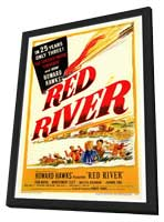 Red River - 27 x 40 Movie Poster - Style A - in Deluxe Wood Frame