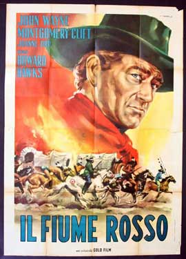 Red River - 11 x 17 Movie Poster - Italian Style B