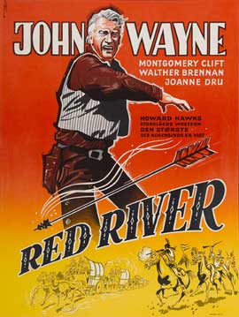Red River - 43 x 62 Movie Poster - Swedish Style A
