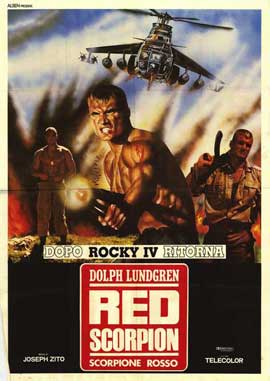Red Scorpion - 27 x 40 Movie Poster - Italian Style A