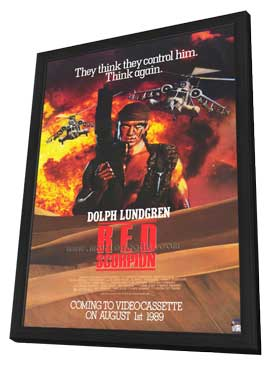 Red Scorpion - 27 x 40 Movie Poster - Style A - in Deluxe Wood Frame