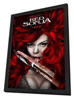Red Sonja - 27 x 40 Movie Poster - Style A - in Deluxe Wood Frame
