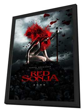 Red Sonja - 11 x 17 Movie Poster - Style C - in Deluxe Wood Frame