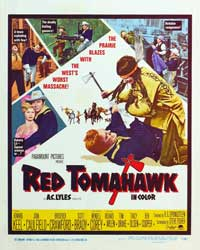 Red Tomahawk - 11 x 17 Movie Poster - Style B