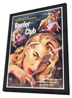 Reefer Club - 11 x 17 Retro Book Cover Poster - in Deluxe Wood Frame