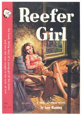 Reefer Girl - 11 x 17 Retro Book Cover Poster