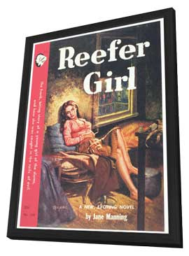 Reefer Girl - 11 x 17 Retro Book Cover Poster - in Deluxe Wood Frame