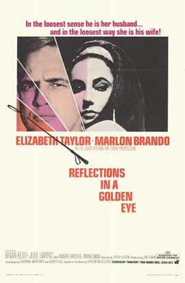 Reflections in a Golden Eye - 11 x 17 Movie Poster - Style A