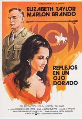 Reflections in a Golden Eye - 11 x 17 Movie Poster - Spanish Style A