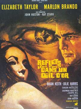 Reflections in a Golden Eye - 11 x 17 Movie Poster - French Style A
