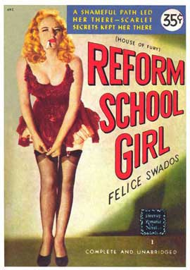Reform School Girl - 11 x 17 Retro Book Cover Poster