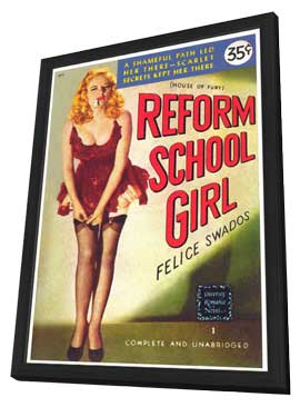 Reform School Girl - 11 x 17 Retro Book Cover Poster - in Deluxe Wood Frame