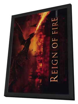 Reign of Fire - 27 x 40 Movie Poster - Style B - in Deluxe Wood Frame