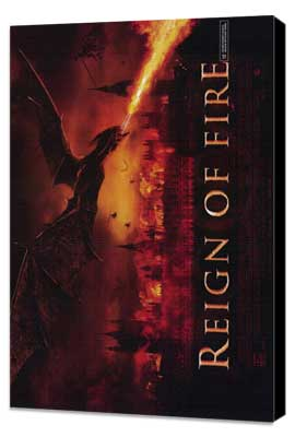Reign of Fire - 27 x 40 Movie Poster - Style B - Museum Wrapped Canvas