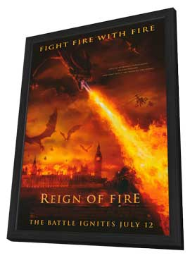 Reign of Fire - 11 x 17 Movie Poster - Style C - in Deluxe Wood Frame