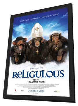 Religulous - 11 x 17 Movie Poster - Canadian Style D - in Deluxe Wood Frame