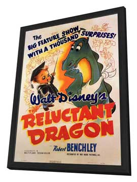 Reluctant Dragon - 11 x 17 Movie Poster - Style A - in Deluxe Wood Frame