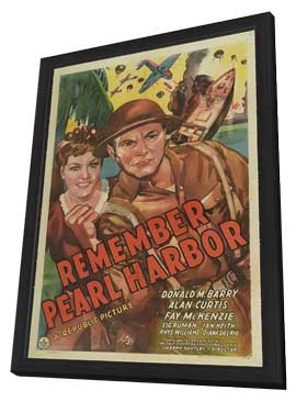 Remember Pearl Harbor - 27 x 40 Movie Poster - Style C - in Deluxe Wood Frame