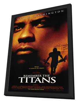 Remember the Titans - 27 x 40 Movie Poster - Style A - in Deluxe Wood Frame