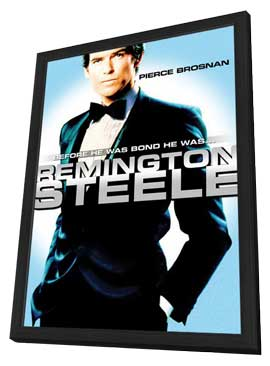 Remington Steele - 27 x 40 Movie Poster - Style C - in Deluxe Wood Frame
