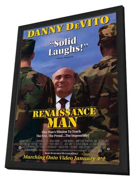 Renaissance Man - 11 x 17 Movie Poster - Style A - in Deluxe Wood Frame