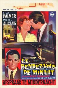 Rendezvous at Midnight - 27 x 40 Movie Poster - Belgian Style A