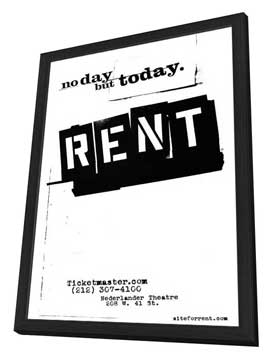 Rent (Broadway) - 27 x 40 Poster - Style A - in Deluxe Wood Frame