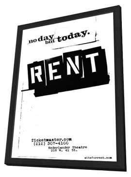 Rent (Broadway) - 11 x 17 Poster - Style A - in Deluxe Wood Frame