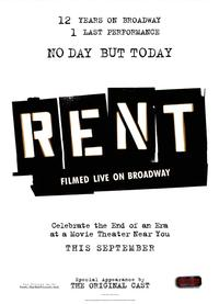 Rent - 43 x 62 Movie Poster - Bus Shelter Style B