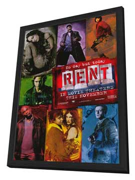 Rent - 11 x 17 Movie Poster - Style A - in Deluxe Wood Frame