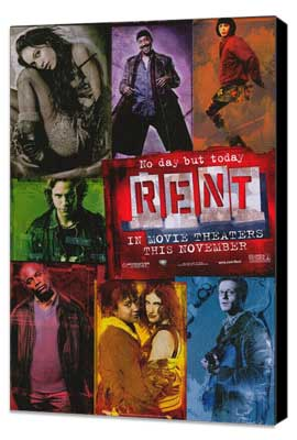 Rent - 11 x 17 Movie Poster - Style A - Museum Wrapped Canvas