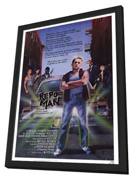 Repo Man - 11 x 17 Movie Poster - Style A - in Deluxe Wood Frame