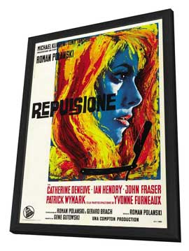 Repulsion - 27 x 40 Movie Poster - Italian Style A - in Deluxe Wood Frame
