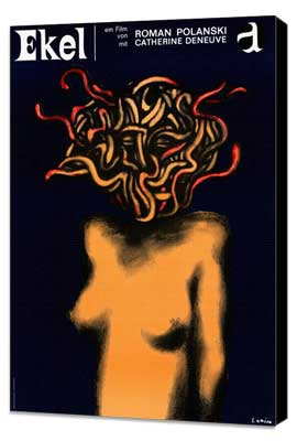 Repulsion - 27 x 40 Movie Poster - German Style A - Museum Wrapped Canvas