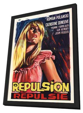 Repulsion - 11 x 17 Movie Poster - Belgian Style A - in Deluxe Wood Frame