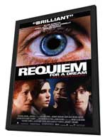 Requiem for a Dream - 11 x 17 Movie Poster - Style B - in Deluxe Wood Frame