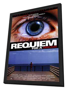Requiem for a Dream - 11 x 17 Movie Poster - Style A - in Deluxe Wood Frame