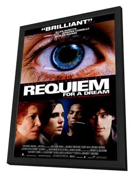 Requiem for a Dream - 27 x 40 Movie Poster - Style B - in Deluxe Wood Frame