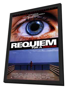 Requiem for a Dream - 27 x 40 Movie Poster - Style A - in Deluxe Wood Frame