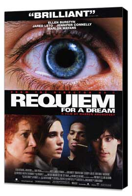 Requiem for a Dream - 11 x 17 Movie Poster - Style B - Museum Wrapped Canvas