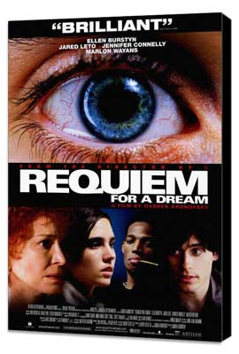 Requiem for a Dream - 27 x 40 Movie Poster - Style B - Museum Wrapped Canvas