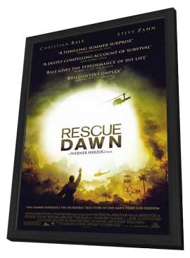 Rescue Dawn - 11 x 17 Movie Poster - Style B - in Deluxe Wood Frame