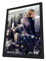 Rescue Me (TV) - 11 x 17 TV Poster - Style L - in Deluxe Wood Frame